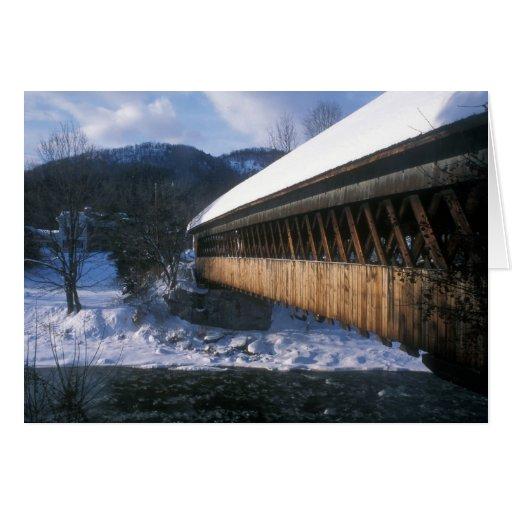 Pont couvert moyen, Woodstock Vermont Cartes De Vœux
