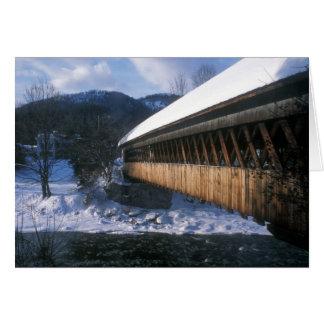 Pont couvert moyen, Woodstock Vermont Carte De Vœux