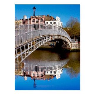 Pont de demi-penny de Dublin Carte Postale