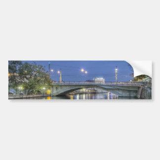 Pont de la Coulouvreniere Geneva Switzerland Bumper Sticker