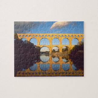 Pont du Gard, Gardon River, Gard, Languedoc, Jigsaw Puzzle