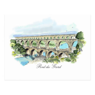Pont Du Gard post card