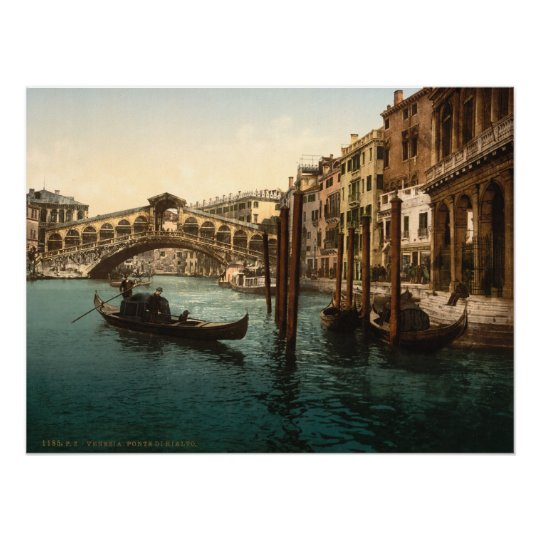 Pont I, copie archivistique de Rialto de Venise, I Poster