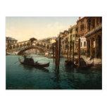 Pont I, Venise, Italie de Rialto Cartes Postales