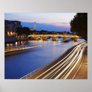 'Pont Louis Philippe' bridge and Eiffel Poster