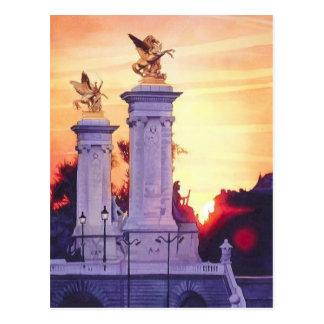 Pont Neuf Est France Watercolor Post Card