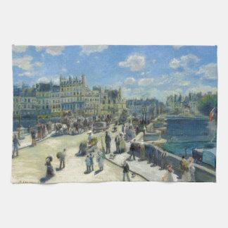 Pont Neuf Paris by Pierre-Auguste Renoir Kitchen Towel