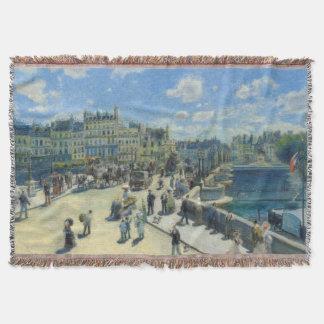 Pont Neuf Paris by Pierre-Auguste Renoir Throw
