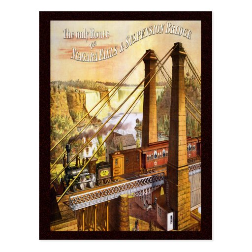 Pont suspendu vintage de chutes du Niagara Cartes Postales