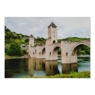 Pont Valentré, France Carton D'invitation 12,7 Cm X 17,78 Cm