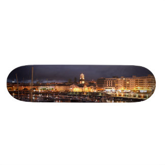 Ponta Delgada at night Custom Skateboard