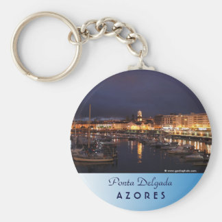 Ponta Delgada at night Keychain