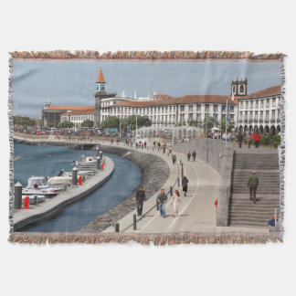 Ponta Delgada, Azores Throw Blanket
