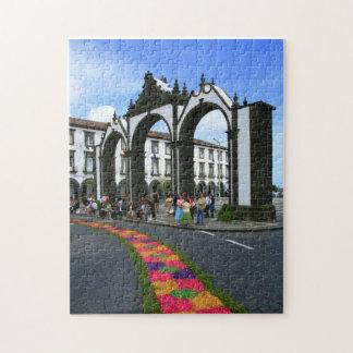 Ponta Delgada city gates Jigsaw Puzzle