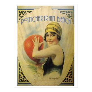 Pontchartrain Beach Poster Card