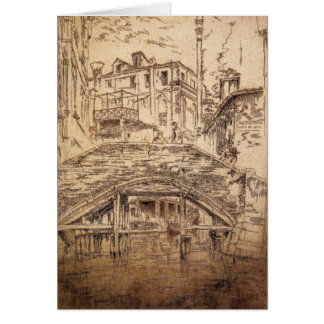 Ponte del Piovan by James Abbott McNeill Whistler Card
