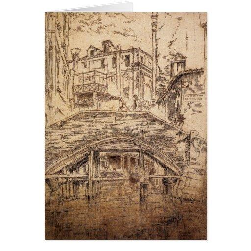Ponte del Piovan by James Abbott McNeill Whistler Card