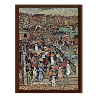 Ponte Della Paglia Venice By Prendergast Maurice B Postcard