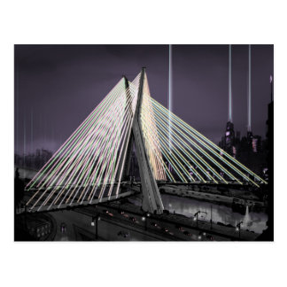 ponte estaiada postcard