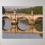Ponte Sant'Angelo, Tiber River, Rome, Italy Poster