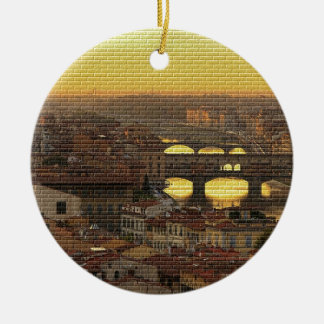 Ponte Vecchio  Bridge Ceramic Ornament