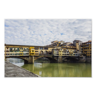 Ponte Vecchio Bridge, Florence, Italy Poster