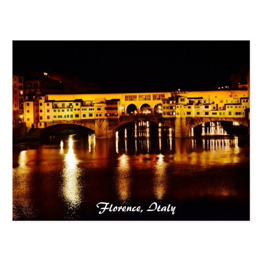 Ponte Vecchio bridge in Florence, Italy Postcard