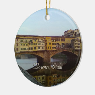 Ponte Vecchio Old Bridge Florence Italy Gift Ceramic Ornament