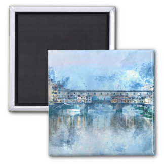 Ponte Vecchio on the river Arno in Florence, Italy Magnet