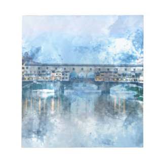 Ponte Vecchio on the river Arno in Florence, Italy Notepads