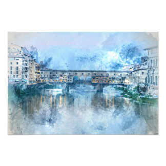 Ponte Vecchio on the river Arno in Florence, Italy Photo