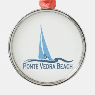 Ponte Vedra Beach. Metal Ornament