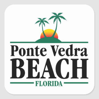 Ponte Vedra Beach Square Sticker