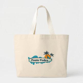Ponte Vedra - Surfing Design. Large Tote Bag