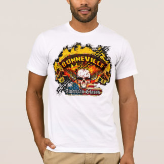 Pontiac Bonneville - Burnout Banner Skull -n- Flag T-Shirt