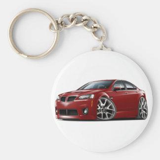 Pontiac G8 GXP Maroon Car Keychain