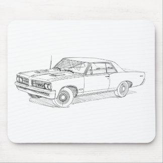 Pontiac GTO 1964 blk Mouse Pad