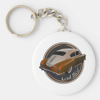 pontiac lead sled copper lowrider basic round button keychain