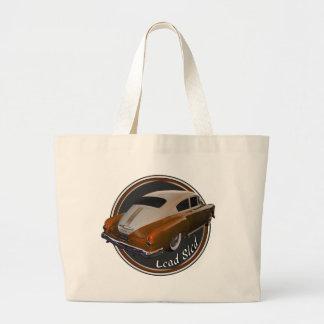 pontiac lead sled copper lowrider large tote bag