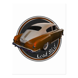 pontiac lead sled copper lowrider postcard