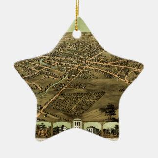 Pontiac Michigan 1867 Ceramic Ornament