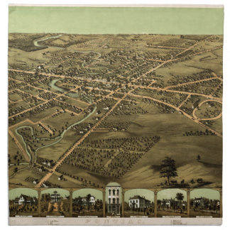 Pontiac Michigan 1867 Napkin