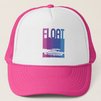 Pontoon Boat Float in Sunset Colors Hat