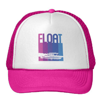 Pontoon Boat Float in Sunset Colors Hat
