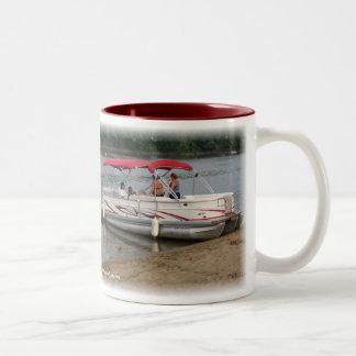 Pontoon Boats Two-Tone Coffee Mug