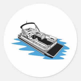 Pontoon Classic Round Sticker