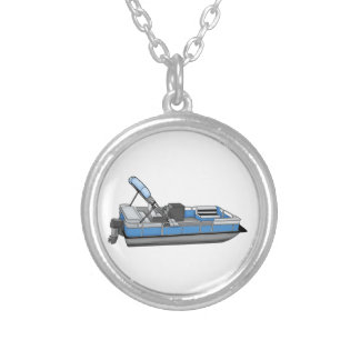 pontoon fun silver plated necklace