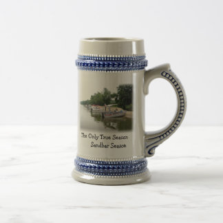 Pontoons, The Only True Season       Sandbar Se... Beer Stein