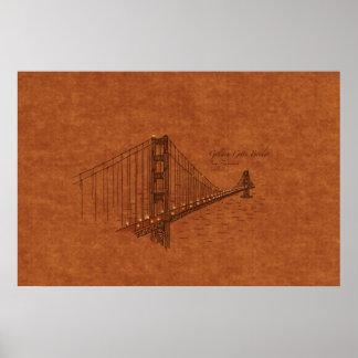Ponts : Golden Gate, Etats-Unis Posters
