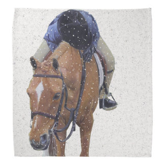 Pony and Girl in the Snow Kerchief